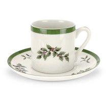 """Чашка для эспрессо с блюдцем 90мл """"Рождественская ель"""" - Spode"""