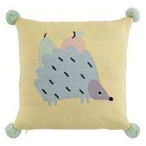 Подушка декоративная с помпонами Ежик Ugo из коллекции Tiny world 35х35 см - Tkano