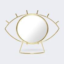 Зеркало настольное Cyclops, золотое - DOIY