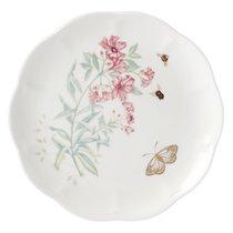 Тарелка акцентная Lenox Бабочки на лугу. Бабочка-Парус 23см, золото, фарфор