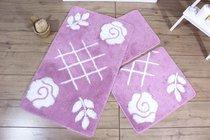 Коврик для ванной DO&CO (60Х100 см/50x60 см) PASTEL, цвет лиловый, 50x60, 60x100 - Meteor Textile