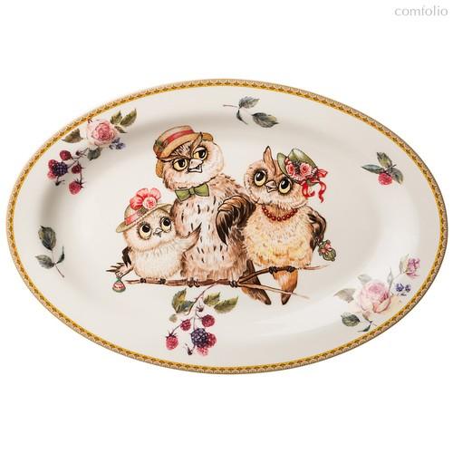 Блюдо Овальное Lefard Owls Party 26,5x18,5 см - Jinding