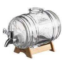 Диспенсер для напитков Barrel на подставке 1 л в подарочной упаковке - Kilner