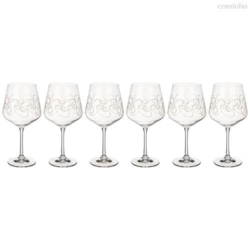 Набор бокалов для вина из 6 шт. SANDRA 570 мл ВЫСОТА 22 см . (КОР 1Набор.) - Crystalex