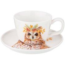 Чайный Набор Лесная Сказка Сова, На 1Пер. 2Пр. 230 мл - Jinding