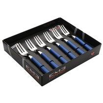 Набор вилок для торта 6 шт. Брио Голубой, подар.упаковка - EME Posaterie