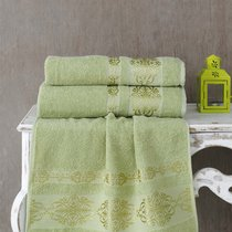 Полотенце махровое Karna Rebeka, цвет зеленый, 70x140 - Bilge Tekstil