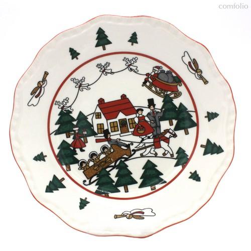 Тарелка 20 см Рождественская деревенька - Mason's