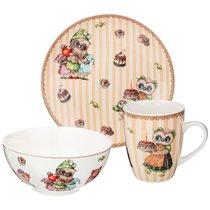 Набор Посуды Обеденный Совушки 3 Пр. : 20,5см/15см/400мл - Shunxiang Porcelain