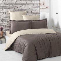 Постельное белье Karna Loft, двухстороннее, цвет бежевый/коричневый, размер 1.5-спальный - Karna (Bilge Tekstil)