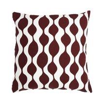Чехол для подушки Traffic, бордового цвета Cuts&Pieces, 45х45 см - Tkano
