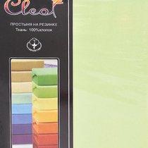 Простыня Cleo трикотажная на резинке 90*200*25 (салатовый) 9/08, цвет салатовый, размер 90x200x25 - Cleo