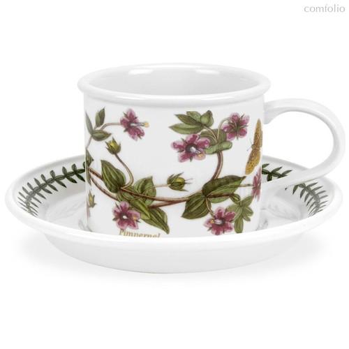"Чашка для завтрака с блюдцем Portmeirion ""Ботанический сад. Анагаллис"" 260мл - Portmeirion"