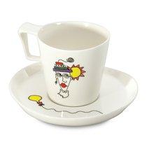 Набор 2шт чашек для завтрака с блюдцем 0,4л Eclipse ornament - BergHOFF