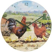 Часы настенные Lesser & Pavey Петушки и курочки d30см - Lesser & Pavey