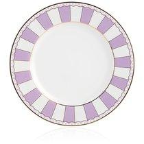 """Набор из 2 десертных тарелок 21см """"Карнавал"""" (лавандовая полоска) п/к, цвет лавандовый - Noritake"""