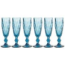 Бокалы для шампанского Ромбо 6 шт. Серия Muza Color 150 мл / В 20 см - Honkong Maple