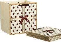 Комплект Бумажных Пакетов Из 10 Шт. Горошек 30x30x25 см - Vogue International