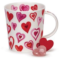 "Кружка Dunoon ""Влюблённые сердца.Ломонд"" 320мл (розовая) - Dunoon"