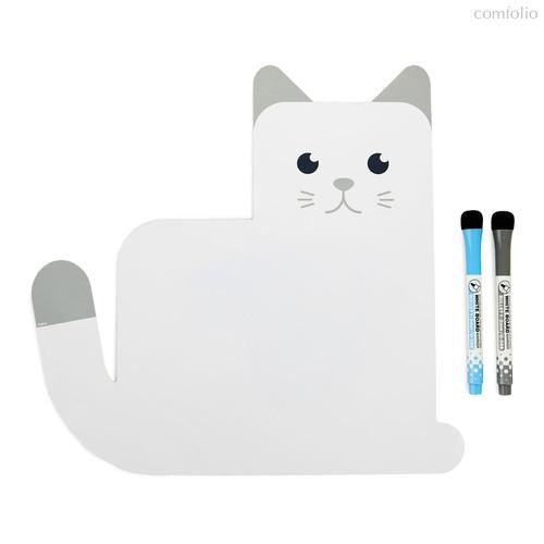 Магнитная доска с 2 маркерами Meow!, цвет белый - Balvi