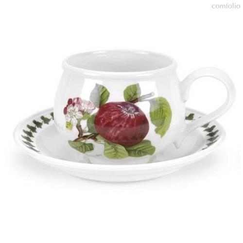 """Чашка чайная с блюдцем Portmeirion """"Помона. Красное яблоко"""" 200мл - Portmeirion"""