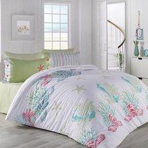 Постельное белье Ranforce Deniz Yildiz, цвет бирюзовый, 1.5-спальный - Altinbasak Tekstil