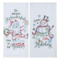 """Полотенце кухонное Kay Dee Designs """"Рождественская история"""" 46х66см, хлопок, ( Снеговик), набор 2 шт - Kay Dee Designs"""