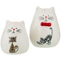 Набор Для Специй 2 пр. Коллекция Озорные Коты 6x6x7/5x5x6 см - Hongda Ceramics