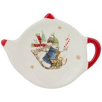 Подставка Под Чайные Пакетики Зимняя Забава 12x8,5x1,5 см - Huachen Ceramics