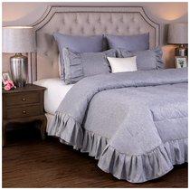 Комплект На Кровать Из Покрывала И 2-Х Наволочек Эстет,Серый,100% Полиэстр, цвет серый, 230x250 - Santalino