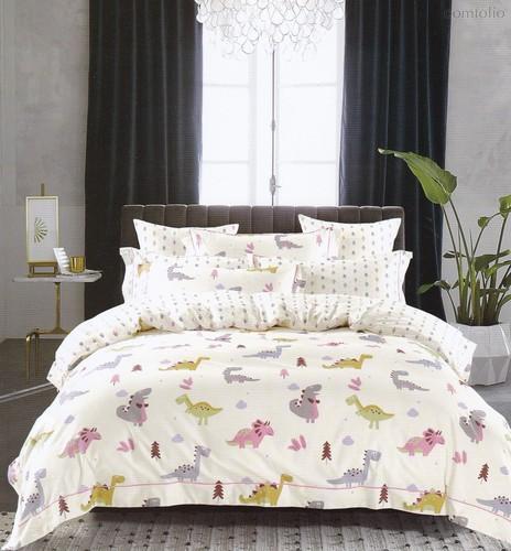 Постельное белье Karna Delux Talen, подростковое, цвет фиолетовый, 1.5-спальный - Bilge Tekstil
