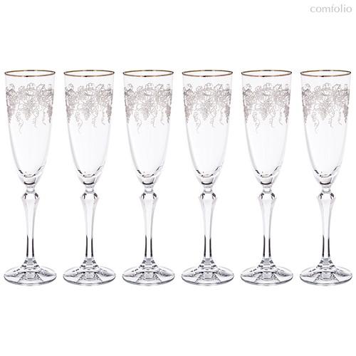 Набор бокалов для шампанского из 6 шт. ELISABETH 200 мл ВЫСОТА 25 см . (КОР 1Набор.) - Crystalex
