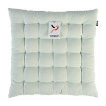 Подушка на стул мятного цвета из коллекции Wild, 40х40 см - Tkano