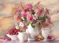 Подставки на пробке Летний чай 40х29 см(4шт) - Top Art Studio