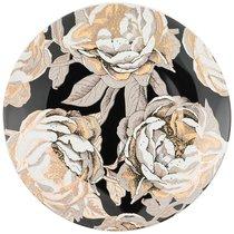 Тарелка Десертная Golden Rose 20,5 см, Черная - Porcelain Manufacturing Factory