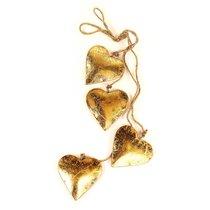 Гирлянда подвесная Golden Hearts, 4 шт. - EnjoyMe
