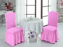 """Чехлы на стулья 1/2 """"BULSAN"""", цвет светло-розовый - Bulsan"""