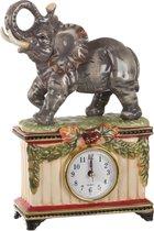Часы Настольные Слон 17x7 см Высота 25 см Диаметр Циферблата 6 см - Hebei Grinding Wheel Factory
