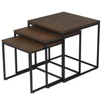 Набор столиков Unique Furniture, Rivoli, 3 шт., 50/45/40 см (куб) - Unique Furniture