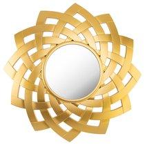 Зеркало Настенное Swiss Home Диаметр 60 см Цвет Золото - Arts & Crafts