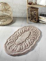 """Коврик для ванной """"MODALIN"""" овальная WENGE 50x80 см 1/1, цвет коричневый, 50x80 - Bilge Tekstil"""