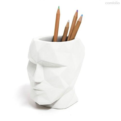 Подставка для канцелярских принадлежностей The Head белый, цвет белый - Balvi