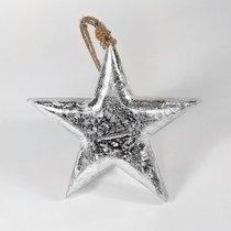Фигурка декоративная Snow Star, подвесная, 23х23х3 см - EnjoyMe