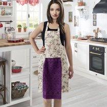 Фартук кухонный Karna с салфеткой 30x50, цвет фиолетовый - Bilge Tekstil