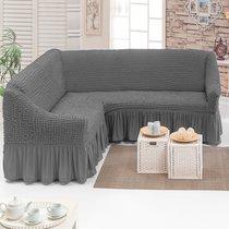 Чехол д/мягкой мебели Угловой (3 местный ) 1 пр. JUANNA, цвет серый - Meteor Textile