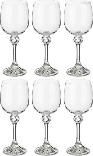Набор бокалов для вина из 6 шт. ДЖУЛИЯ 230 МЛ ВЫСОТА=18 СМ (КОР=8Набор.) - Crystalex