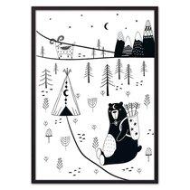 Медведь на охоте, 21x30 см - Dom Korleone