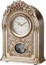 Часы Настольные Кварцевые С Маятником Золотые Цветы 25, 5X11, 5X36, 5 см Диаметр Циферблата 10 см - Shantou Lisheng