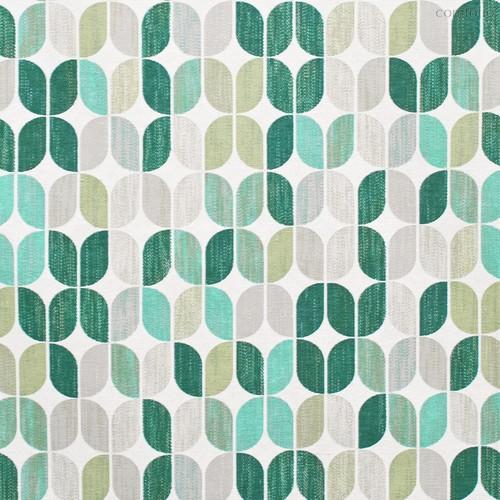 Ткань хлопок Геометрико ширина 280 см, 7794, цвет бирюзовый - Altali