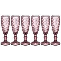 Бокалы для шампанского Пина 6 шт. Серия Muza Color 150 мл / В 20 см - Honkong Maple